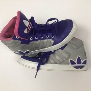 Adidas Hard Court Big Trefoil High Top Shoes